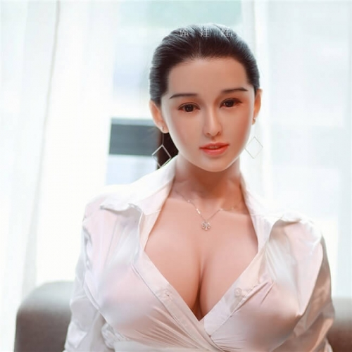 JY 164 cm Lifelike Silicone Love Dolls Artificial Breast Sexual Mannequin-Lan Xin